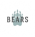 Bear trail hand drawn logo emblem template vector image vector image