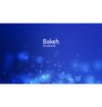 blue color background blur bokeh light effect vector image vector image