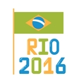 Brazil olympic flag flat vector image
