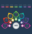 business presentation or info graphic template vector image vector image
