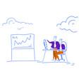 businessmen financial analytics brainstorming vector image vector image