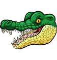 Cartoon angry crocodile mascot vector image vector image