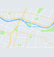 city map town streets with park and river vector image