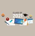 class 2021 education graduate college icon vector image
