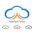 cloud logo template vector image vector image