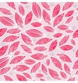 Colored seamless pattern with leaf in pink vector image vector image