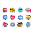 comic pop art bubbles cartoon text balloon wow vector image