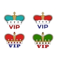 Crowns with VIP sign vector image vector image