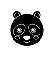 cute animal panda bear head baby vector image vector image