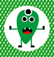 Cute Green Monster with Three Eyes vector image vector image