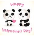 cute little pangas love vector image