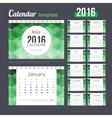 Desk Calendar 2016 Design Template with abstract vector image