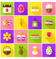 easter spring colorful icons vector image vector image