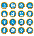 ecology icons set simple style vector image vector image