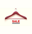 empty wooden hanger hanging on wall clearance vector image vector image