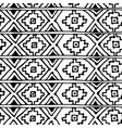 ethnic abstract geometric pattern in black vector image vector image