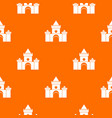 fairytale castle pattern seamless vector image vector image