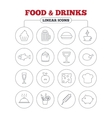 Food and Drinks icon Beer coffee with cocktail vector image vector image