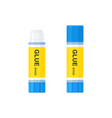 glue stick with lid open and closed vector image vector image