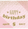 Happy birthday invitation with confetti for girl vector image vector image