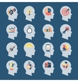 Idea Head Icons vector image vector image