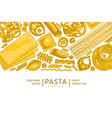 italian pasta design template hand drawn food vector image