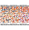 Mega set of abstract backgrounds vector image vector image