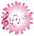 musical notes with sound scale vector image
