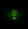 neon low poly euro cup banner vector image vector image