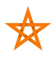Orange star with shadow on intersections vector image vector image