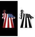 patriotic us aircraft carrier american flag vector image vector image