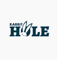 rabbit hole logo vector image