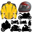 race motorcycle vector image vector image
