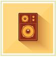 Retro Loudspeaker flat vintage icon vector image vector image