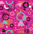 retro seamless 1980s memphis pattern vector image vector image