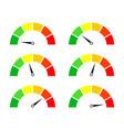 risk meters gauge and icon speedometer score vector image