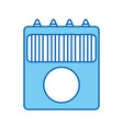 school colors isolated icon vector image