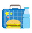school lunch box icon kid set for a snack vector image vector image