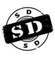 sd rubber stamp vector image vector image