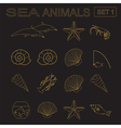 Sea animals icon vector image vector image