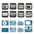 set of radio audio and music icons vector image vector image