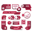 Set of Red-Violet progress version step icons vector image