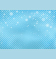 snowfall on blue transparent background vector image vector image