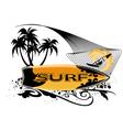 surfboard banner vector image vector image