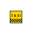 taxi icon design vector image