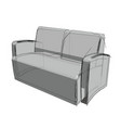 technical drawing a sofa in an architectural vector image