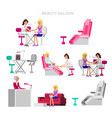template for beauty saloon template for beauty vector image vector image