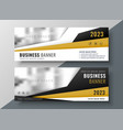 two horizontal business web banners with space vector image