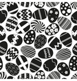 various black Easter eggs design seamless pattern vector image vector image
