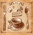 Vintage tea set vector image